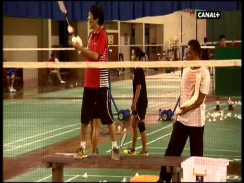 Badminton in Indonesia in french.