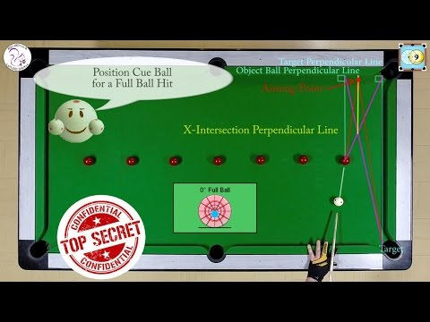 X-System Secret Revealed - Aiming Bank Shots - Exercise #25 - Pool & Billiard Training Lesson