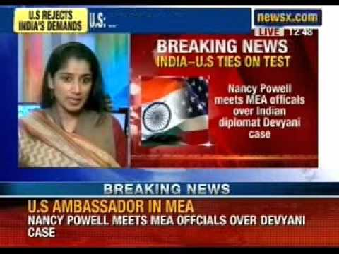 Devyani Khobragade case- Nancy Powell meets MEA officials over indian diplomat