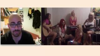 Barbie Girl - Aqua (cover by Blaxy Girls) on Chatroulette