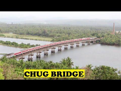 WDP3A TVC Rajdhani Sharavathi Bridge !!!