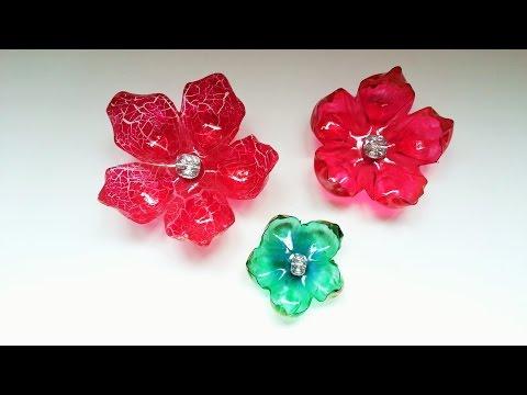 Flores feitas com garrafa pet passo a passo - step by step