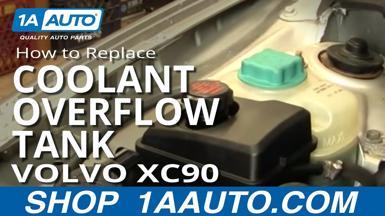 How To Install Replace Radiator Coolant Overflow Bottle Tank Volvo XC90 03-12 1AAuto.com - YouTube