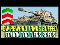 CW Tanks Buffed Italian Top Tier Medium Specs World of Tanks News
