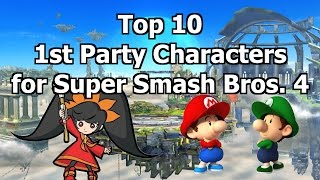 Top Ten 1st Party Characters For Super Smash Bros. 4
