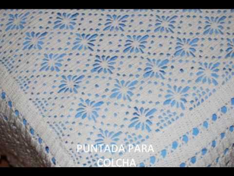 Puntadas para colchitas de bebé en crochet - Imagui