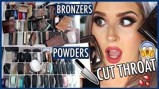 MAKEUP DECLUTTER 🔪 Powder & Bronzer 😏 Organize Makeup With Me!