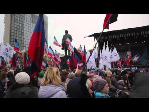 Видео! День Флага в Донецкой Народной Республике!