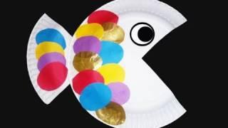 Cómo hacer un pez con un plato de papel