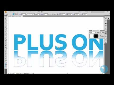 How to add a Reflection to your text/ object in Adobe Illustrator.