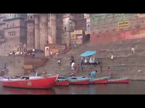 Holy sensation on the bank of river Varanasi Ganges
