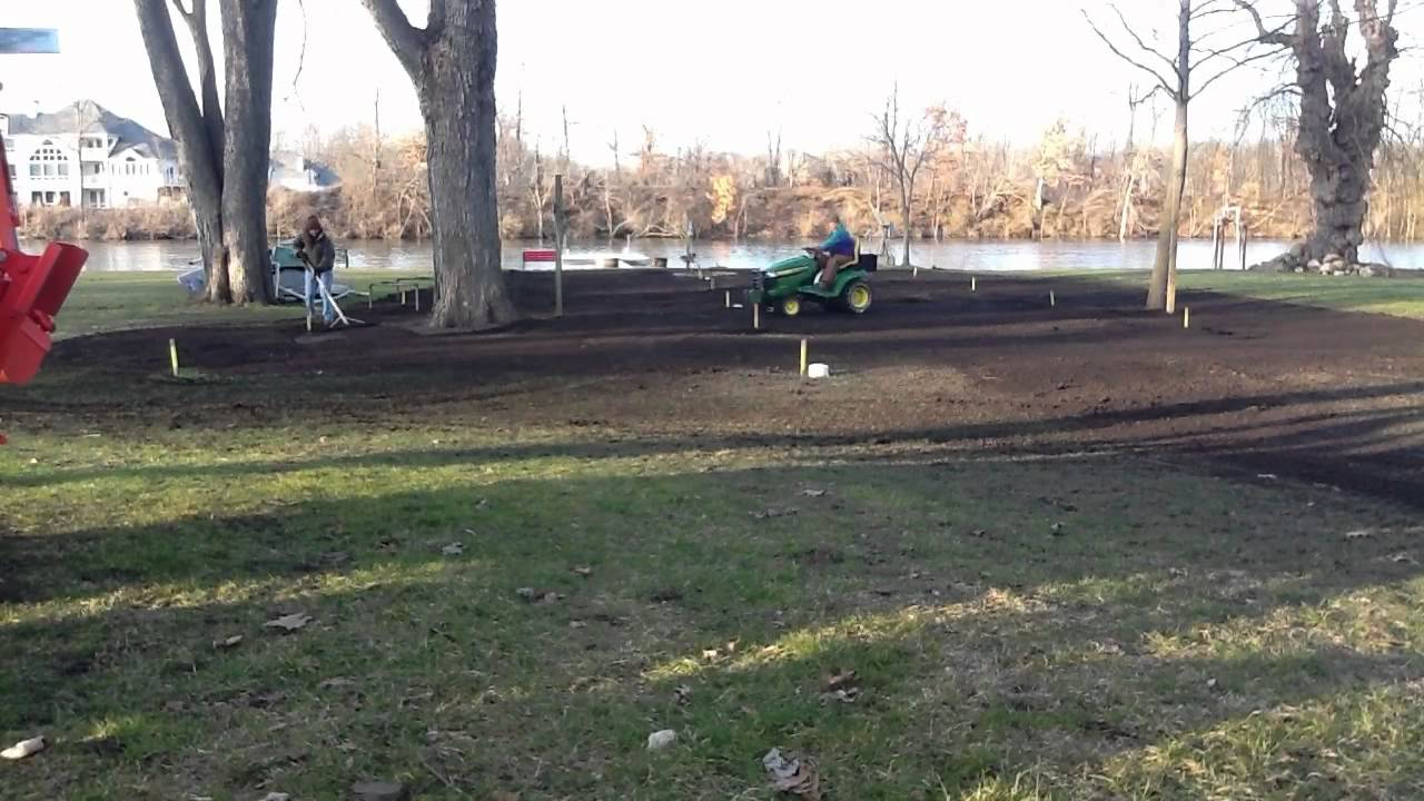 john deere x540 yard leveling technique youtube