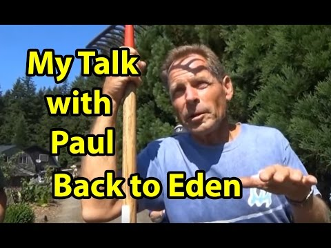 My Talk with Paul G. from Back to Eden Gardening Method with wood chips
