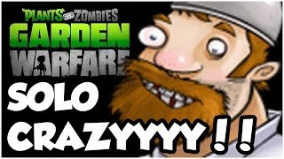 Plants vs. Zombies Garden Warfare - SOLO CRAZY MODE!! Gameplay Walkthrough (1080p HD)