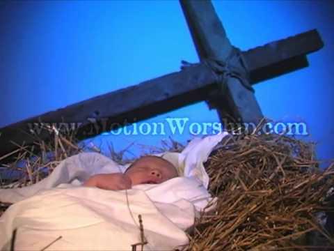 Baby Jesus Cross Christmas Motion Background