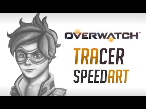 Tracer Overwatch- speed painting