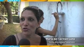 Los Tamarindos se beneficia con el programa de pintado de fachadas