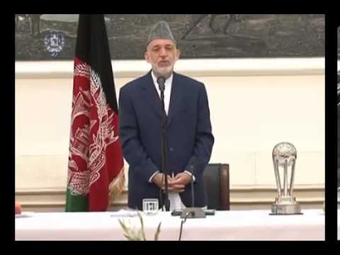 President Karzai received today our Heroes, Afghan National Football Team, 14 Sep  2013 00