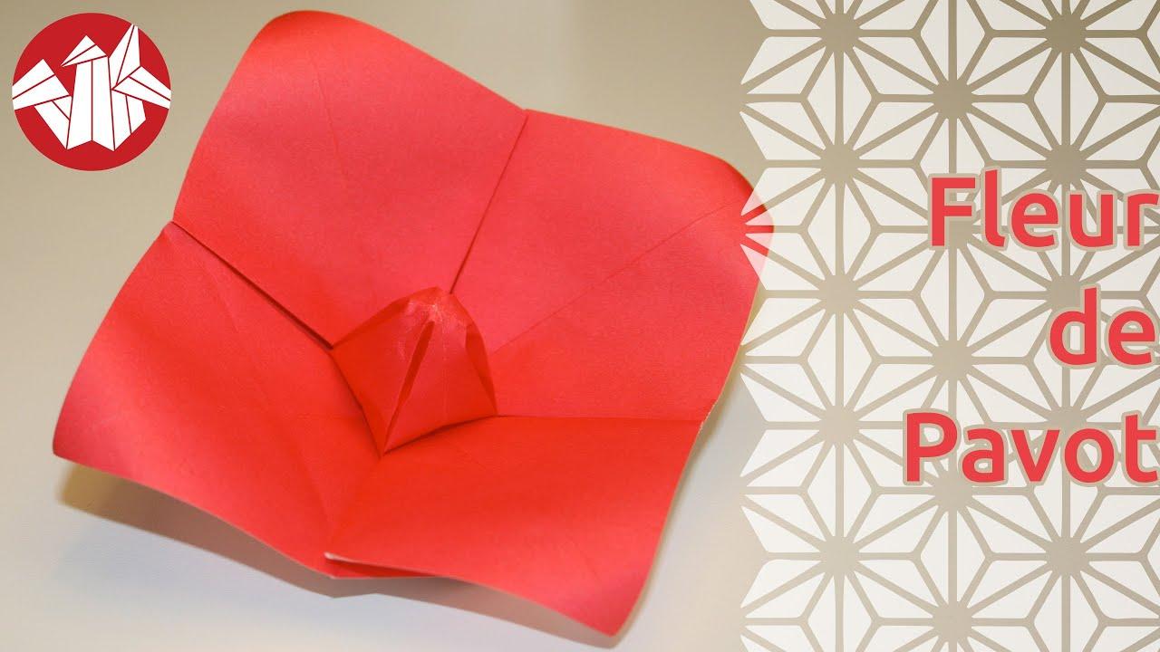 Origami fleur de pavot poppy flower senbazuru youtube - Youtube origami fleur ...
