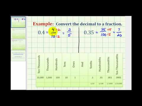 Convert a Decimal to a Fraction