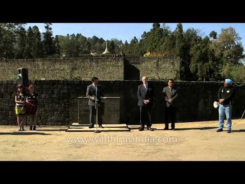 Abu Metha Press secretary to CM at Kohima War Cemetery