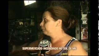 Supermercado � destru�do por inc�ndio em Cambu�