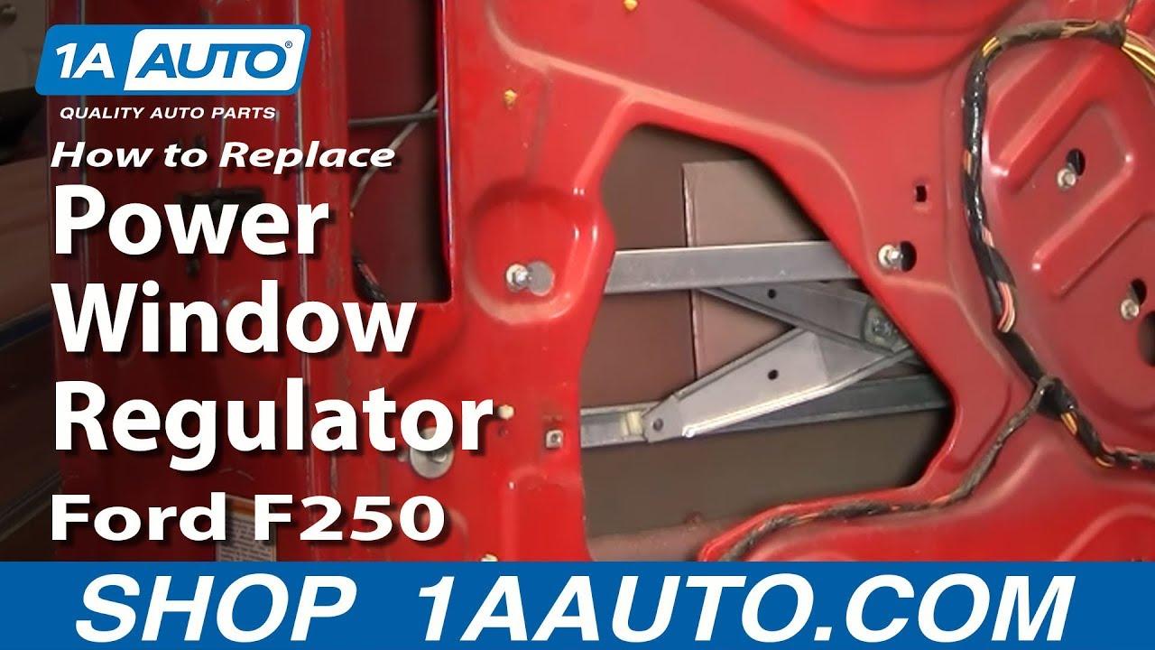how to install replace power window regulator 99