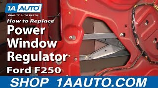 How To Install Replace Power Window Regulator 99-07 Ford