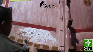 Limpeza Caminhão de água em Mina de Minério - India