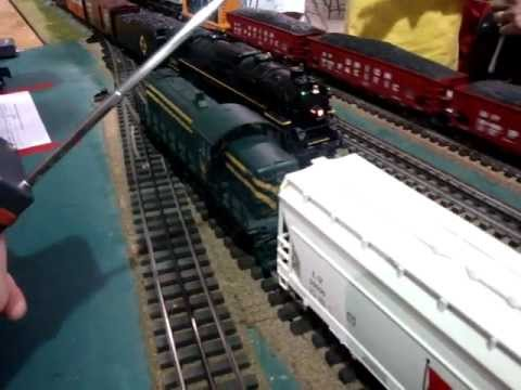 RAW footage! Berkshire Steam train  from MTH (1) Somerset County Trainmasters layout!MOV08040