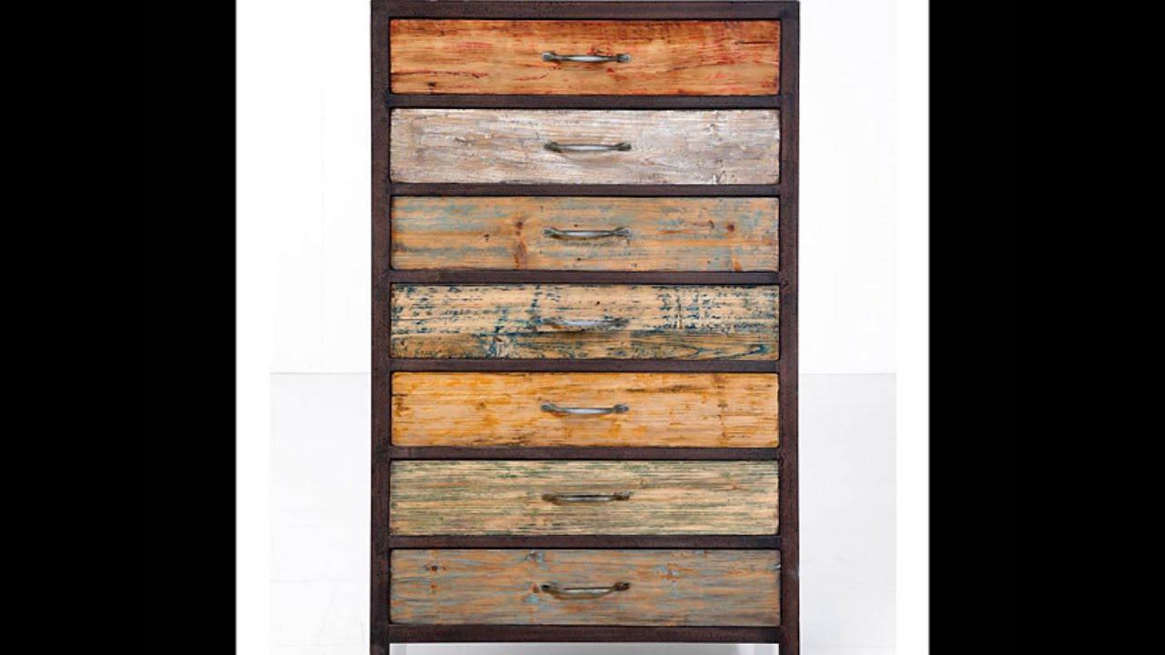 Muebles hechos con madera reciclada youtube for Muebles de madera reciclada