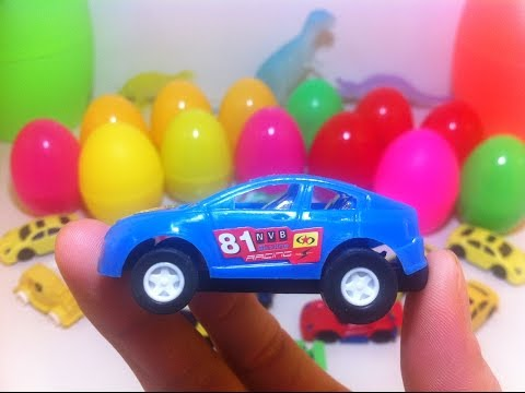 surprise eggs cars Spiderman motorcycle - tro choi boc trung socola