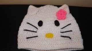 Crochet Gorrito Hello Kitty Gatica)