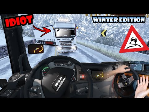 ★ IDIOTS on the road #70 - ETS2MP   Funny moments - Euro Truck Simulator 2 Multiplayer