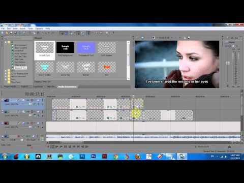 How to create karaoke text effect in Sony Vegas Pro 12
