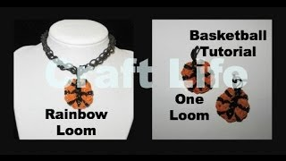 Rainbow Loom Mini Basketball Charm Tutorial ~ One Loom