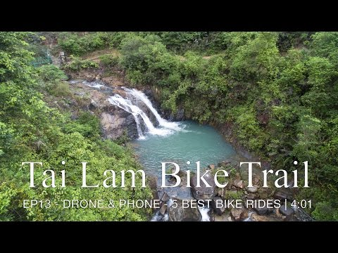 Tai Lam Bike Trail - A long downhill followed a ride around the reservoir