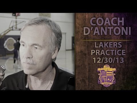 Lakers Practice: Coach D'Antoni On Chris Kaman's Limited Role, Pau Gasol's Illness