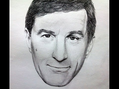 Pencil art portrait drawing of robert deniro speed drawing realistic