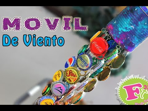 DIY: Movil de viento con CORCHOLATAS // Bottlecap Windchimes