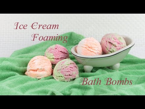 Ice Cream Foaming Bath Bombs