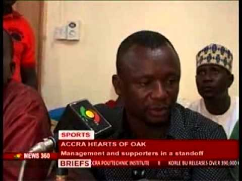News 360 Sports Accra Hearts Of Oak management and supporters in a standoff 15 11 2013