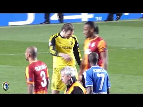 Chelsea vs Galatasaray Didier Drogba Full Time