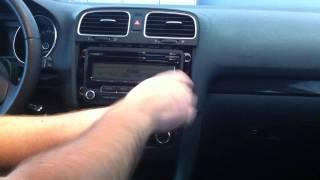 VW Golf 6 IV Radio ausbau / VW Golf MK IV 6 Rabbit extension.avi videos