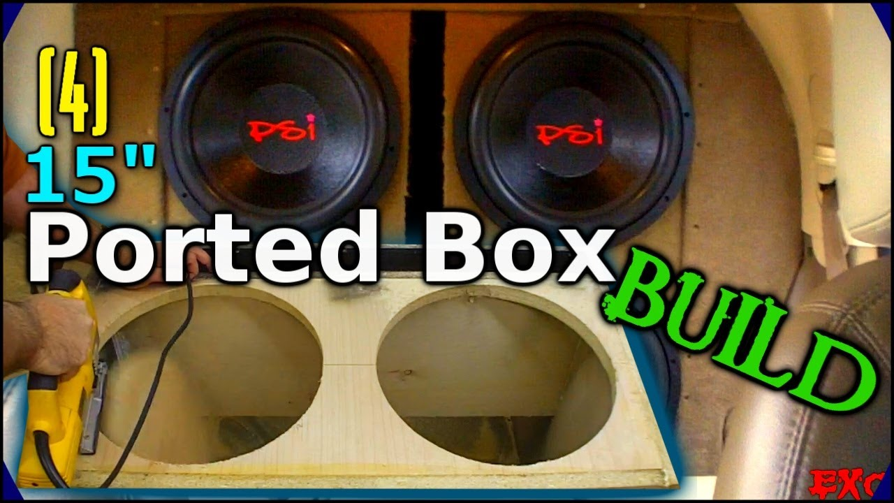 how to build a subwoofer box for 2 15s