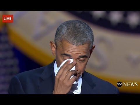 Obama Cries While Talking About Michelle Obama