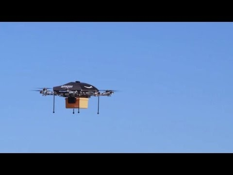 Amazon unveils futuristic mini-drone delivery plan
