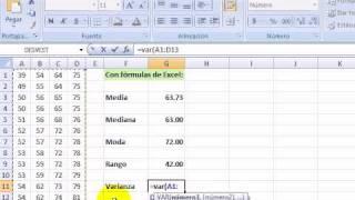 Medidas De Centralización Y Dispersión Con Excel.swf