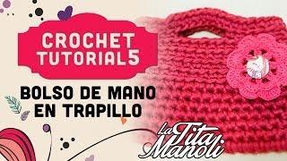 Crochet Bolso De Mano De Trapillo