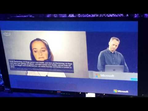 Skype Translate Demo - Microsoft WPC 2014